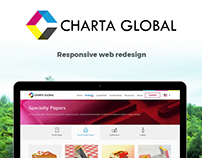 Charta Global - web redesign project