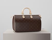 Louis Vuitton Handbag 3D Rendering