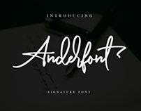 Free Anderfont Signature Font