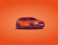 Illustration - Mercedes Class A