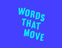 WORDS THAT MOVES. Diseño de identidad.