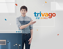 UI / graphic element design for Trivago TV commercial