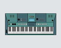 Yamaha Piano Keyboard - Illustration