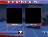 Breaking News Screen - Two Window