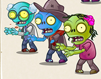 Zombies- 2D Game Character Sprite Sheets