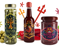 Hot sauce, Raspberry Jam And Olives Packaging