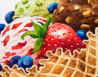 Watercolor Sweets Cover Illustrations