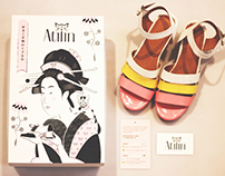 Packaging Design & Illustration For Atilin Shoes