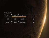 Alien isolation menu redesign