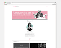 Web para la Diseñadora de Vestuario Llúcia Bernet