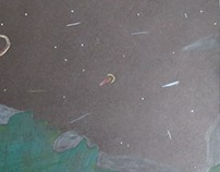Meteor shower drawing