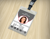 Formal Office ID Card