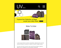 mobile UI ideas: UI design for UVbags