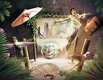 """FOTOLIA TEN contest #1 - """"Two dimensions"""""""