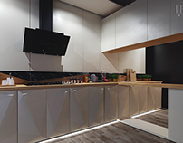 Contemporary cucine. Design enhancement.