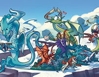 Playmats illustrations