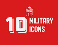 10 Military Icons – Free