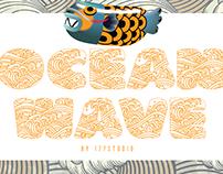Free Font - OCEAN WAVE