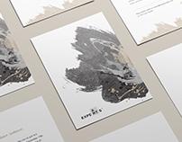 Certificate and invitation design for the art school