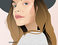 Barbara Palvin Vector Portrait