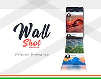 WallShot - Wallpaper Sharing App Design