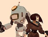 RetroBot & Space Babe