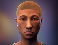 Pharrell Williams - 3D Portrait
