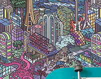 Seattle Coloring Wallpaper