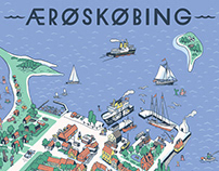 Fairytale city Ærøskøbing map
