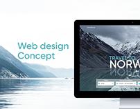 Website of travel agency in Norway