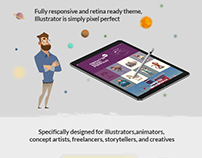 Illustrator - A Portfolio Theme for Illustrator, Design