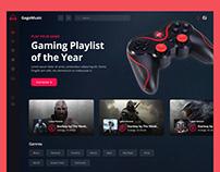 Game Dashboard UI Design