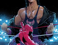 "WWE Issue #2 Bret ""Hitman"" Hart Variant Cover"