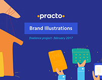 Brand illustrations for Practo.com