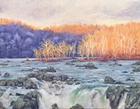 December Sunset at Great Falls