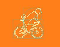 Cycling ShibaDog
