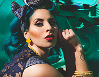 THE BLUE HAIRED BETTY for Adore Pin Up Magazine