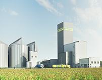 architectural visualization - Grain silos