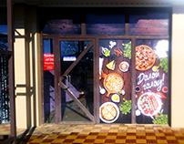 "Design of cafe ""Sushi time & БлиновЪ"""