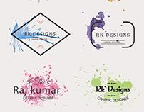 Watercolor logo designs