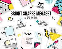 272 patterns, posters, elements. MEMPHIS MEGAset