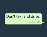 Don't text and drive   Print