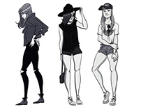 FASHION STREET STYLE SKETCHES