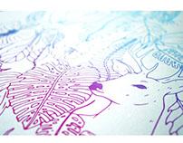 Cartel naturaleza en serigrafía