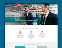 Macola, Exact Division - Homepage Design Concept