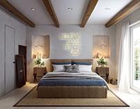 3D Visualisation for a Cozy Bedroom Design