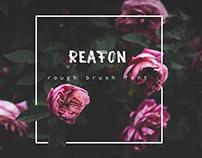 """Font, """"Reafon"""""""