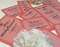 Wedding Stationery using Calligraphy