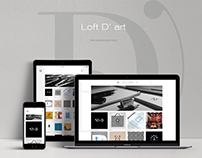 Loft D'art - Branding Identity & Design Company Website