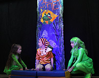 "Декорации к спектаклю Буратино. Театр-студия Базилюре""."